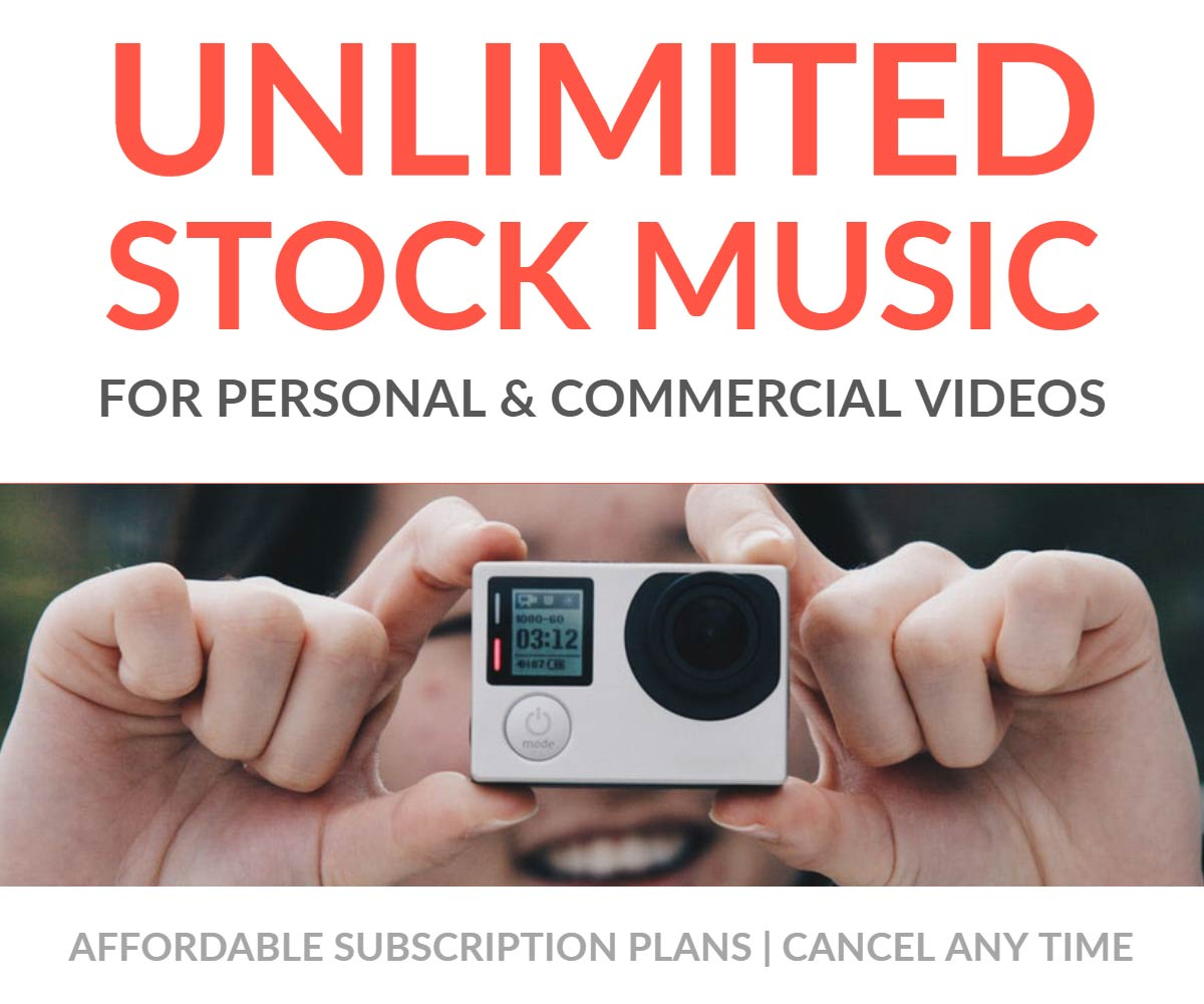 Unlimited royalty free stock music subscription
