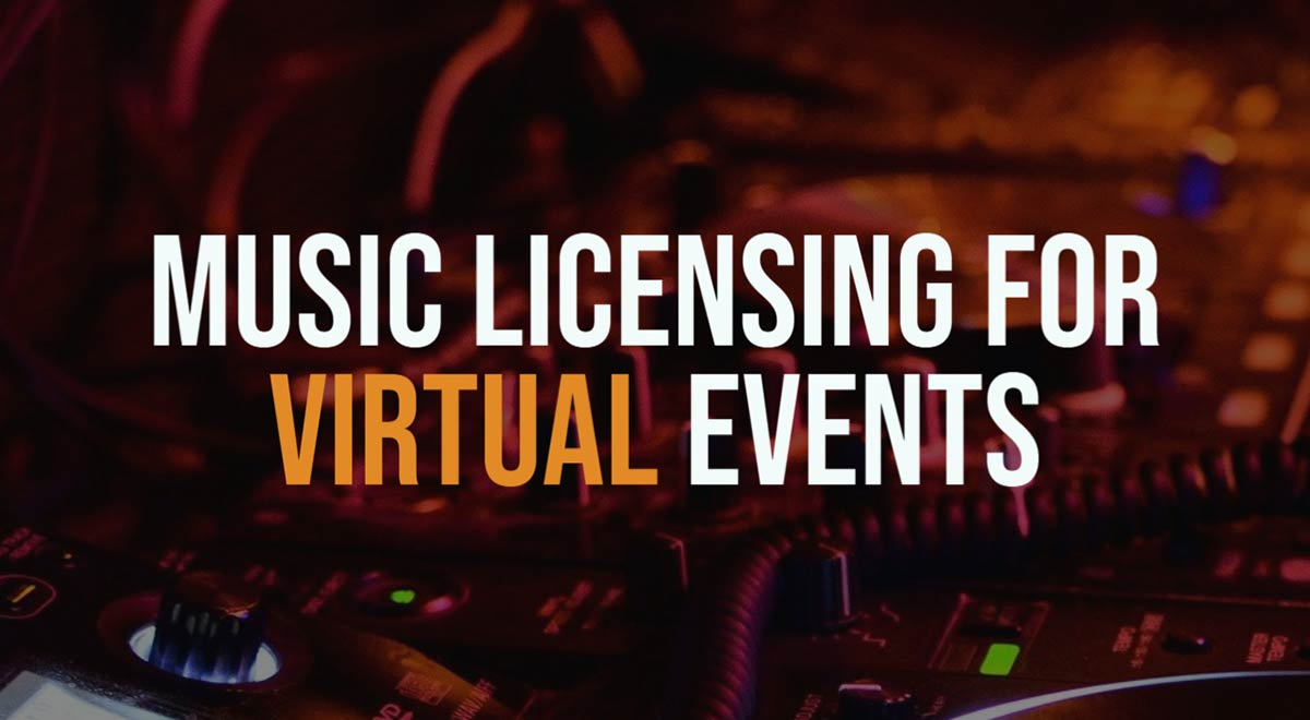 Music licensing for virtual events