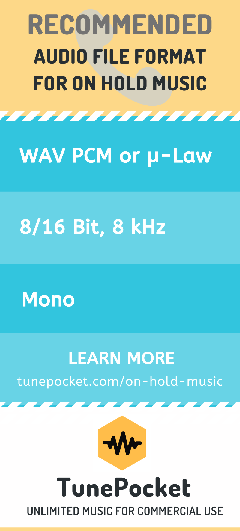 Recommended File Format For On Hold Music