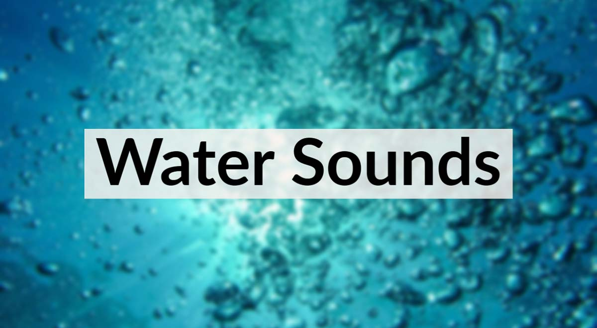 Royalty Free Water Sounds