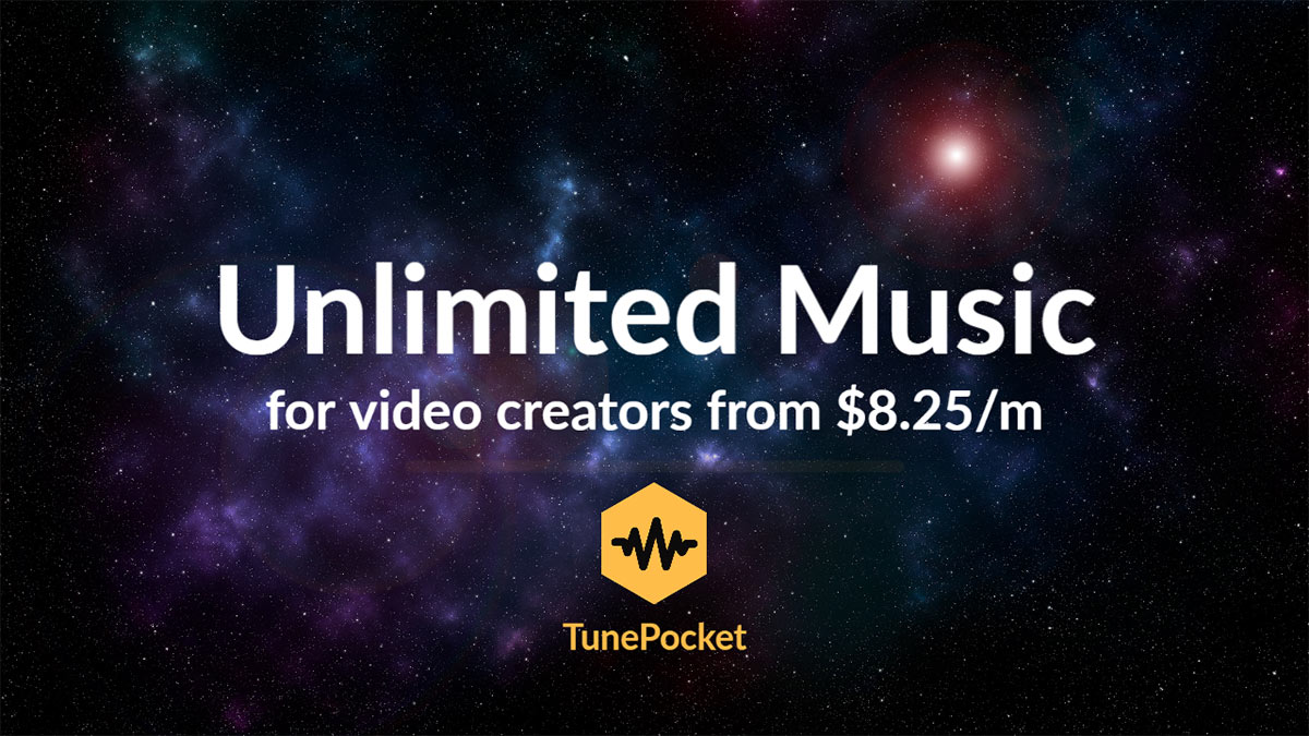 TunePocket Unlimited Music For Video Creators From $8.25/month