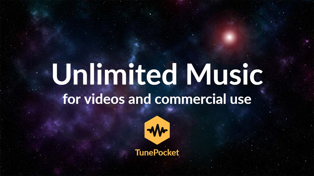 TunePocket Unlimited Music For Videos And Commercial Use SM