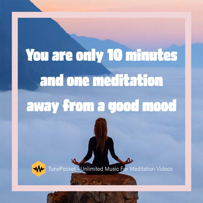 Unlimited music for meditation videos