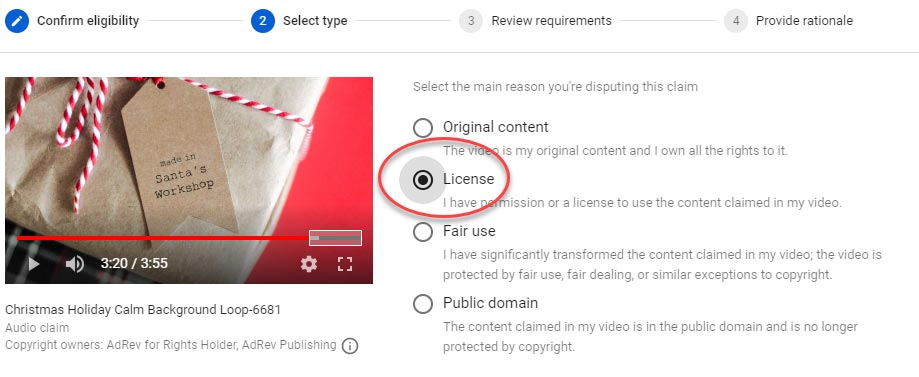 license to use music on youtube