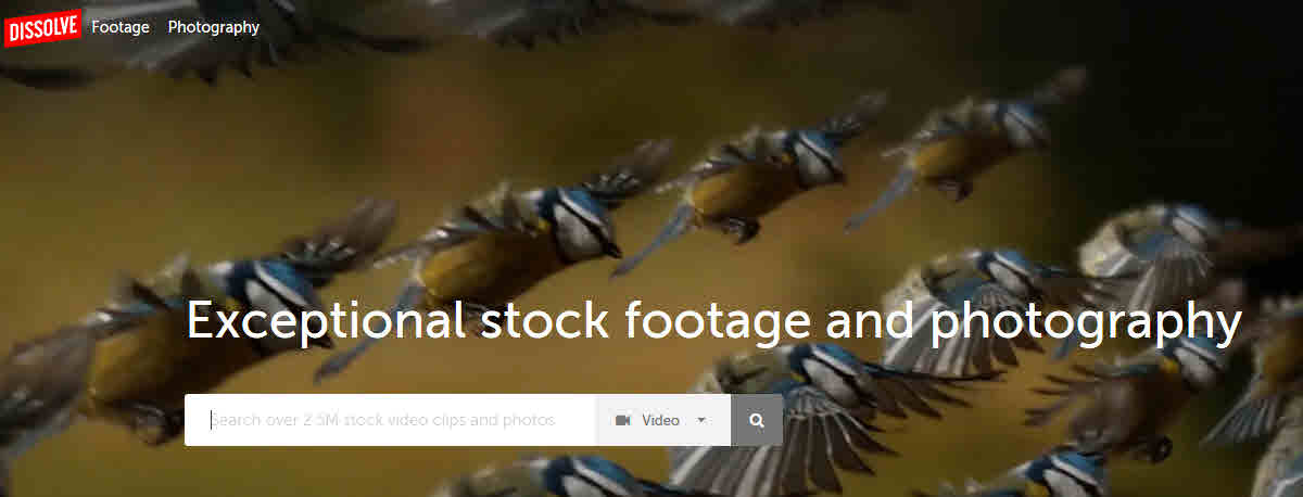 dissolve stock footage and photography