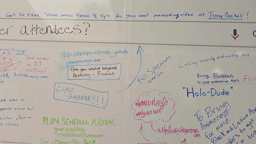 google for startups whiteboard