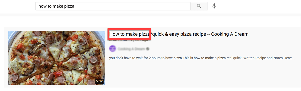 include main keyword in the title
