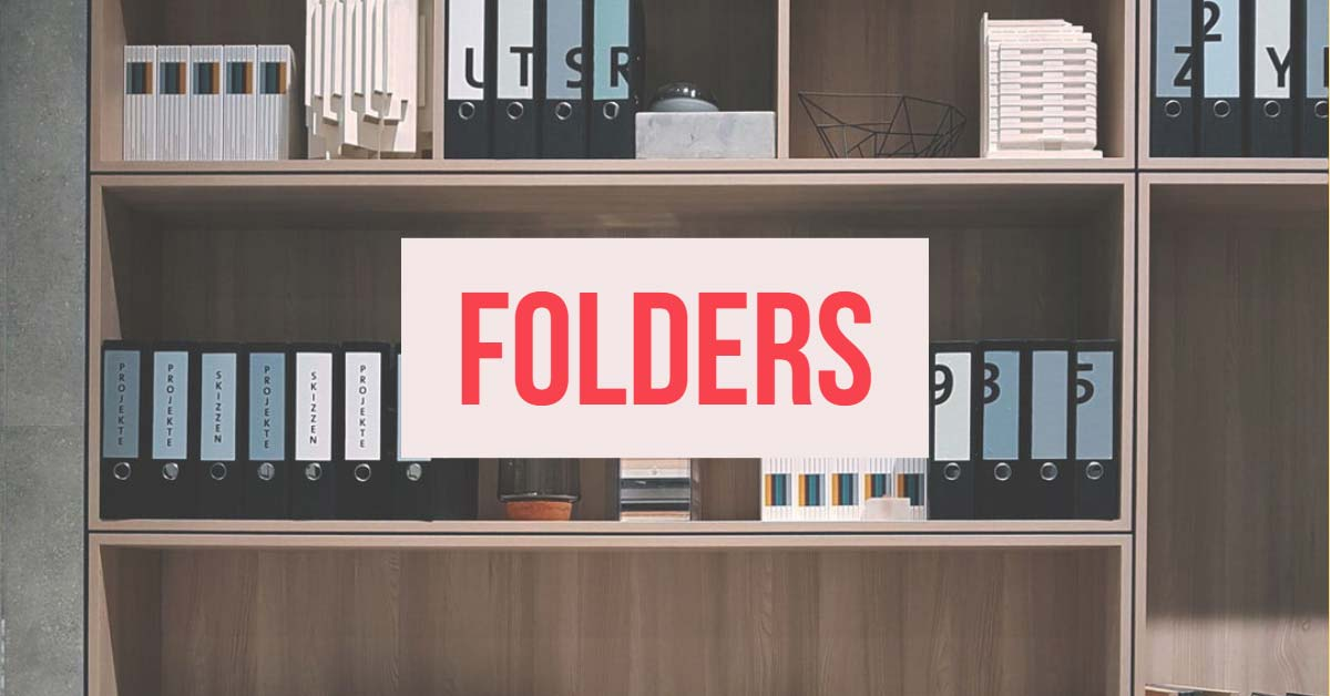 Organize favorites into folders