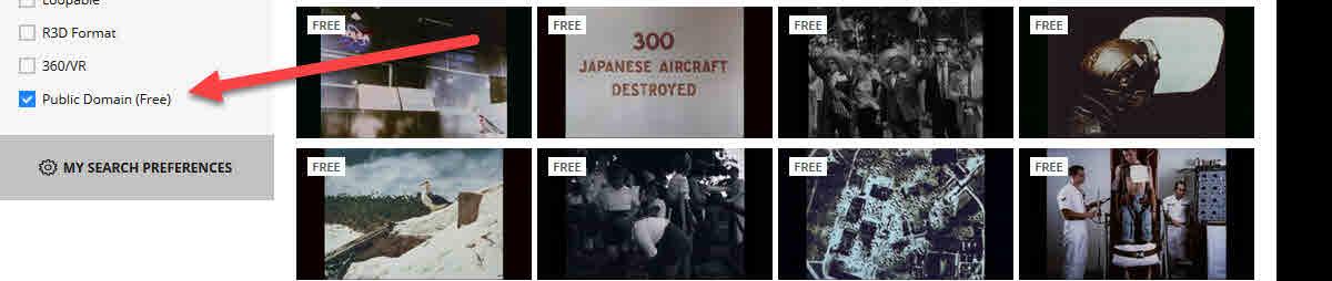 public domain free videos