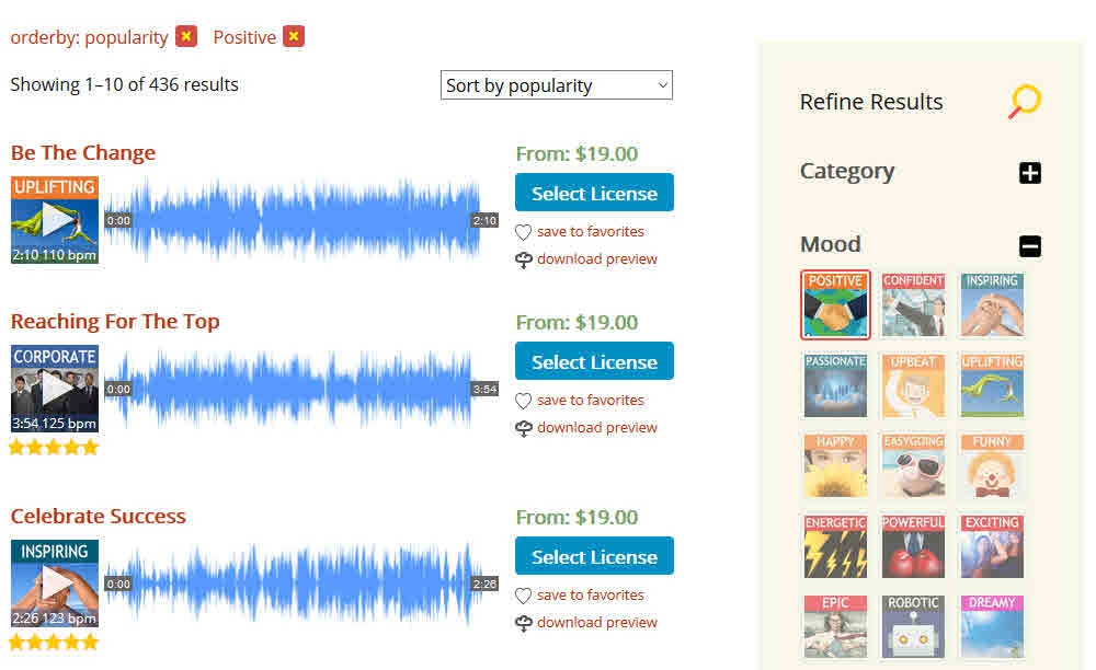 safemusiclist license royalty free music commercial video