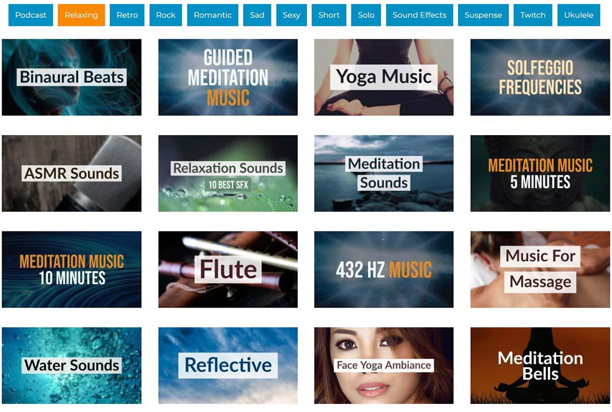 royalty free meditation music playlists