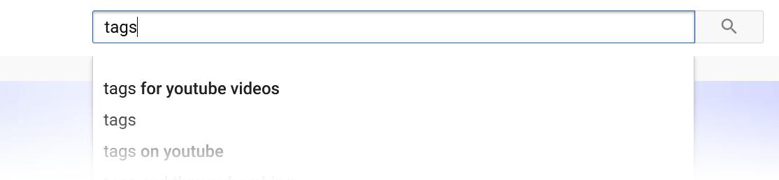 youtube search auto complete
